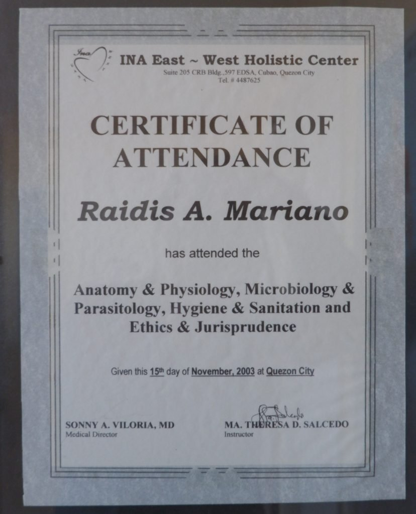 Physiology Certificate