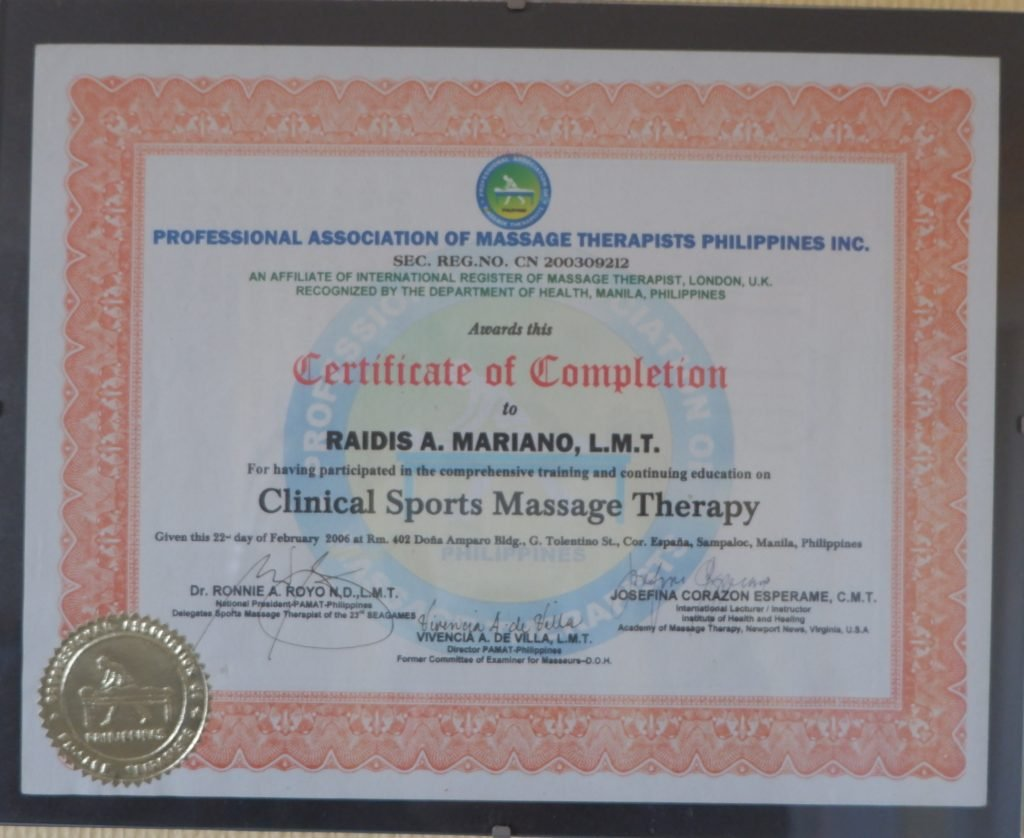 Clinical Sports Massage Therapy Certificate